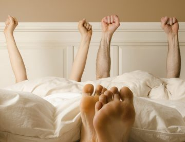 Sexualparter im Bett - Sexleben verbessert